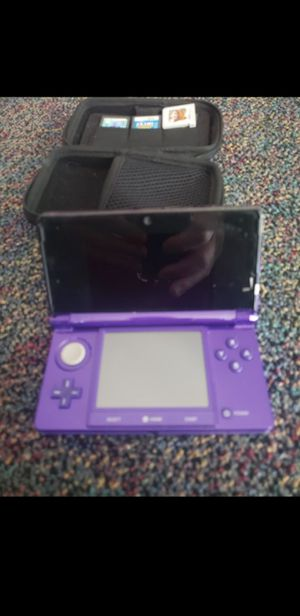 Nintendo 3ds Purple &4 games comes case for Sale in Milpitas, CA