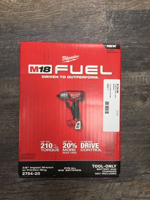 """Milwaukee 2754-20 M18 FUEL 3/8"""" Compact Impact Wrench w/ Friction Ring for Sale in Lynn, MA"""