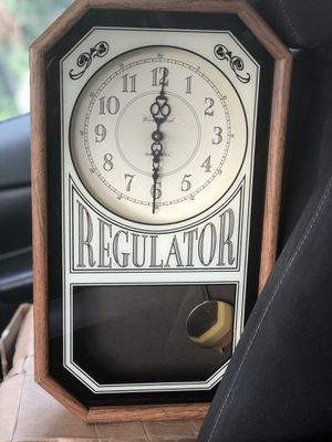 Antique Regulator Wall Clock $10 OBO! for Sale in Huntington Beach, CA