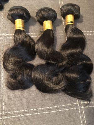 10 12 14 inch body wave hair bundles for Sale in Memphis, TN
