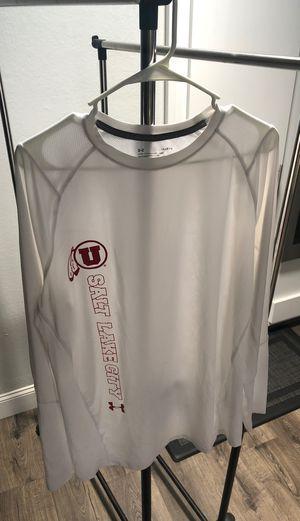 White long sleeve Drifit shirt Utah size Large for Sale in Fresno, CA