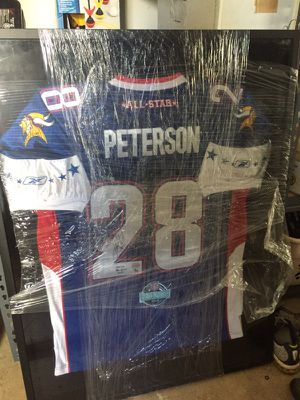 Adrian Peterson Signed Pro Bowl MVP Jersey for Sale in Fairfax, VA