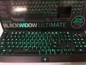 Razer Blackwidow Ultimate 2016 Edition Keyboard for Gaming for Sale in Federal Way, WA
