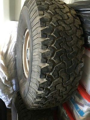 Tires set of four 36 inch tires with rims for Sale in Minot, ND