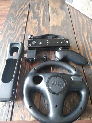 Black Wii remote & accessories for Sale in San Diego, CA