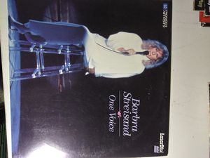 Barbra Streisand: One Voice Laserdisc for Sale in Yonkers, NY
