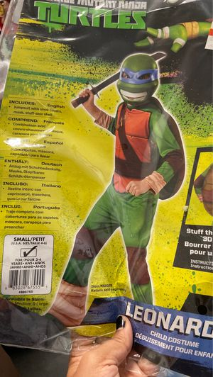 Ninja turtle costume size 3 to 4 for Sale in San Diego, CA