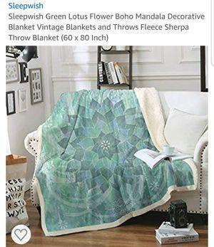 Sleepwish Green Lotus Blanket 60 X 80 for Sale in La Puente, CA