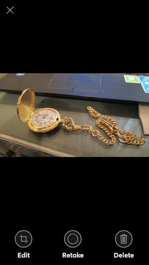 Nice Goldtone Eagle Pocket Watch for Sale in Lynchburg, VA