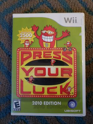 Press Your Luck -- 2010 Edition (Nintendo Wii, 2009) for Sale in Chambersburg, PA