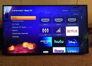 """ELEMENT 4K (2106p) UHD Smart ROKU TV 55"""" (inch) w/ Remote for Sale in Corona, CA"""