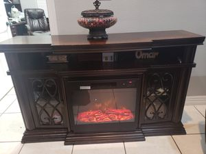 Media table with electric fire place for Sale in Brownsville, TX