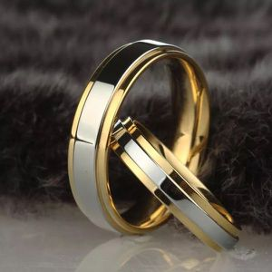 18K Gold plated Engagement/ Wedding Matching Ring Set- UNISEX for Sale in San Diego, CA