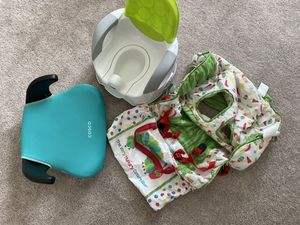Shopping cart cover, potty chair and car booster seat for Sale in West Park, FL