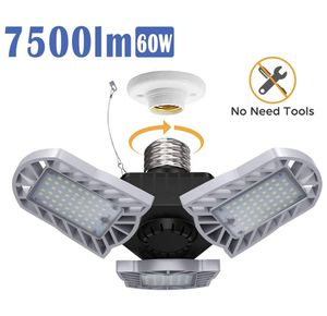 LED Garage Light, Blusmart 60W 7500lm Adjustable Three-Leaf Garage Lights with 360° Coverage, 156pcs Quality LED Chips, 50000Hr Lifespan for Garage W for Sale in Garden Grove, CA