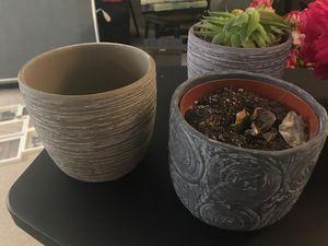 Ceramic Flower Pot (3 pots) for Sale in Malden, MA