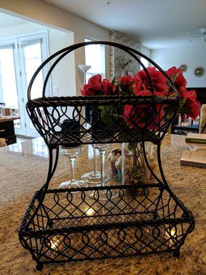 Gourmet Basics Loop & Lattice 2-Tier Basket for Sale in Olney, MD