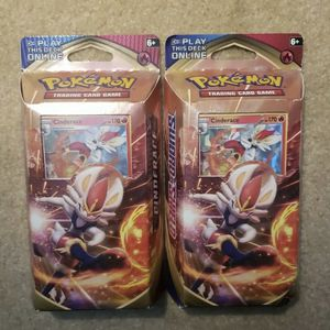 Pokemon TCG Sword and Shield Cinderace Theme Deck Factory Sealed (Error Card) for Sale in Orlando, FL
