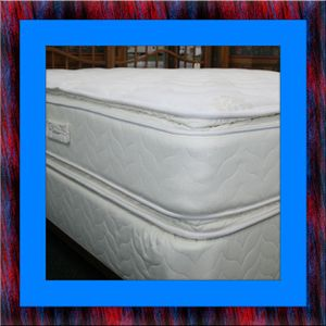 Twin mattress double pillowtop with box spring for Sale in Rockville, MD