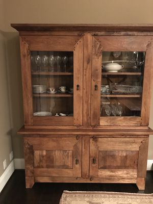 "Crate and Barrel Basque ""Grey wash"" color buffet/hutch for Sale in Tustin, CA"
