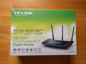 TP-LINK AC-1900 touch screen LCD WiFi wireless gigabit router for Sale in IL, US