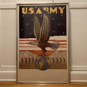 Framed Vintage US Army Poster - Original for Sale in Los Angeles, CA