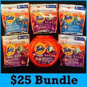 Tide pods laundry bundle $25 for Sale in Los Angeles, CA