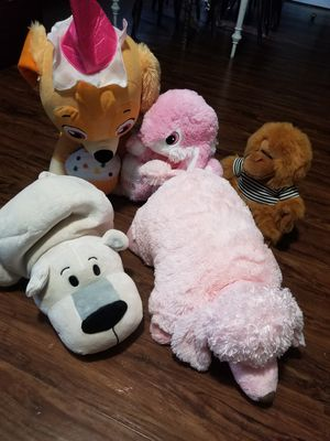 Lot of 5 stuffed animals/pillowpets for Sale in Manheim, PA