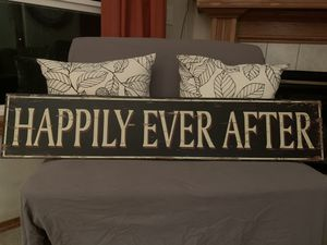 Happily Ever After Wedding Home Decor Sign for Sale in Gresham, OR
