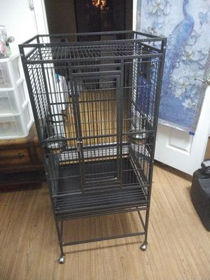 Big bird cage in good condition excellent shape 55 deep 24 wide 22 West for Sale in Port Charlotte, FL