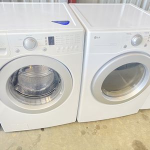 Front Load Lg Washer And Front Load Lg Dryer High Efficiency Electric for Sale in Bedford, TX