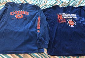 2x lot: short sleeve & long sleeve Cubs shirts for Sale in North Pekin, IL