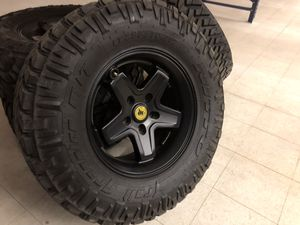 5 wheels on sale 5x5.0 Jeep wheels comes with tires for Sale in Milford, NH