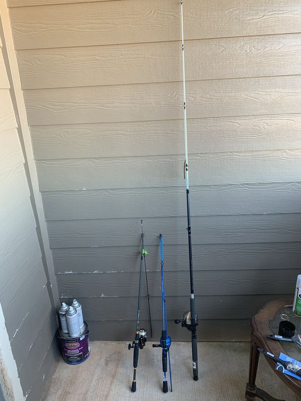 Fishing Rods And Reel For Sale 2 Bait caster And One Spinning Reel
