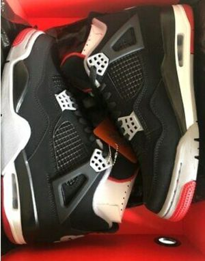 Air Jordan 4 Bred Retro IV (4) Black Cement Red 308497 060 for Sale in Fort Washington, MD
