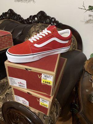 Vans old sckool racing red/true white us men 9.0 us women 10.5 for Sale in Corona, CA
