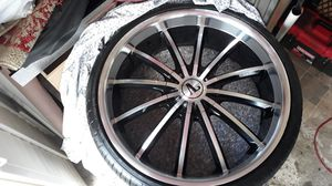 "22"" Velicity rims chrome & black (5/115) & (5/120) for Sale in Chula Vista, CA"