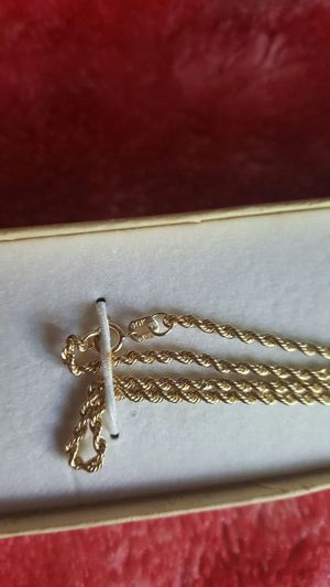 """Solid 10k yellow gold rope chain 20"""" Unisex for Sale in Severn, MD"""