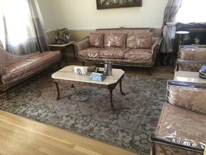 Antique French silk upholstered carved wood furniture for Sale in Great Neck, NY