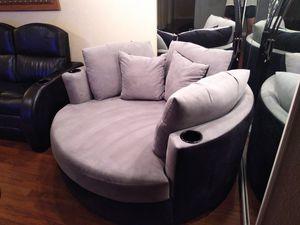 2 Round black and gray sofa for Sale in Pompano Beach, FL