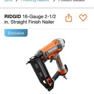 Ridgid 2 1/2 Straight Finish Nailer for Sale in North Las Vegas, NV