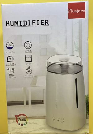 Plustore Humidifiers,3.5L Ultrasonic Cool Mist Humidifiers for Bedroom,7 Color Shifting Night Light,Whisper-Quiet Operation, Auto Shut-Off,Humidifier for Sale in Woodland, CA