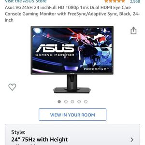 ASUS Gaming Monitor 75hz 1ms for Sale in Jacksonville, FL