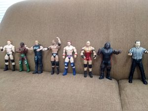 Collection of 15 WWE Wrestling Figures includes Talking Referee 75$ for Sale in Houston, TX