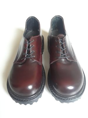 Cherry red Doc like shoes, woman size 5 -6 , Muro brand from Mexico, 100% leather for Sale in Los Angeles, CA