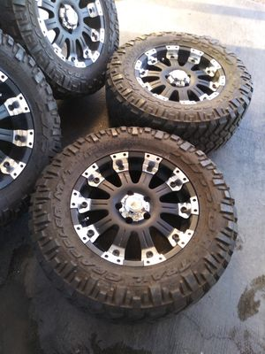 Brand New 18 off road rims with nitto trail grappler tires for Sale in Las Vegas, NV