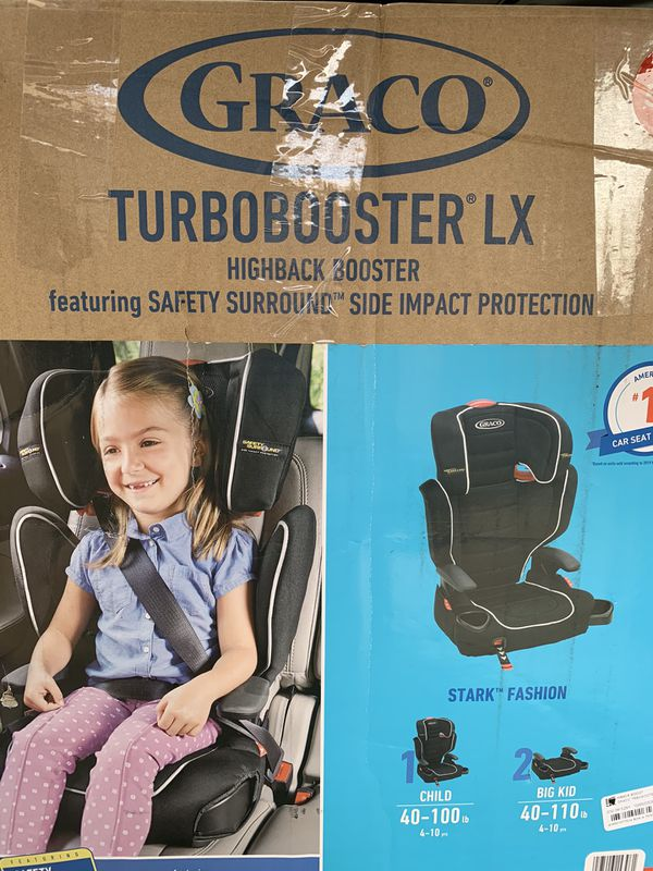 New Graco TurboBooster LX Highback Booster Car Seat with Safety Sound SUMMERLIN