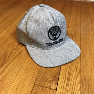 Jagermeister Gray Black Heathered Adjustable Snapback Hat Cap New without tags for Sale in French Creek, WV
