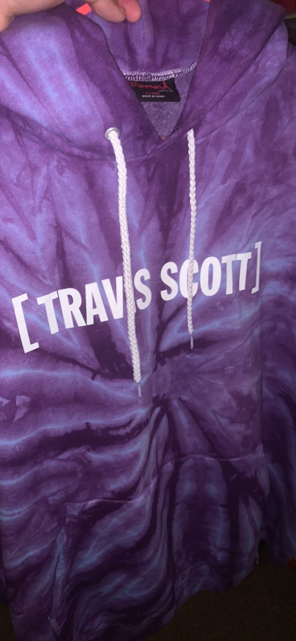 """LA FLAME"" Tie Dye Travis $cott x Diamond supply co. Colab hoodie"