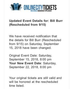 Bill Burr tickets for Sale in Midlothian, VA